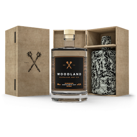 Woodland Gin Distillers Cut-Holzkiste