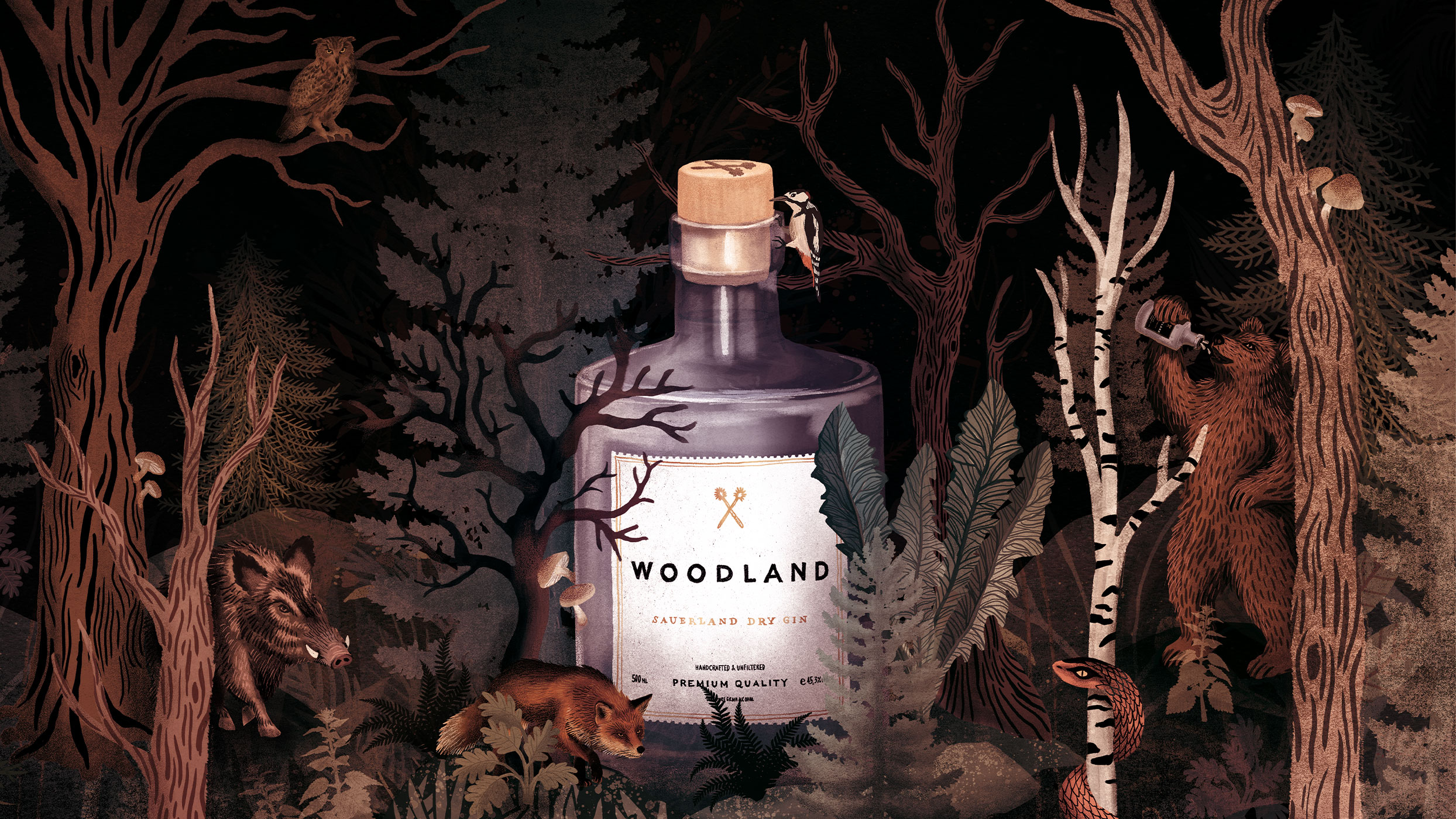 Woodland-Premium-Dry-Gin-Elsa-Edition