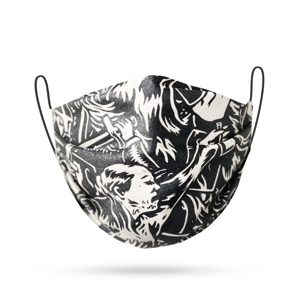 Woodland Jute Woodland Jute Maske Illustration
